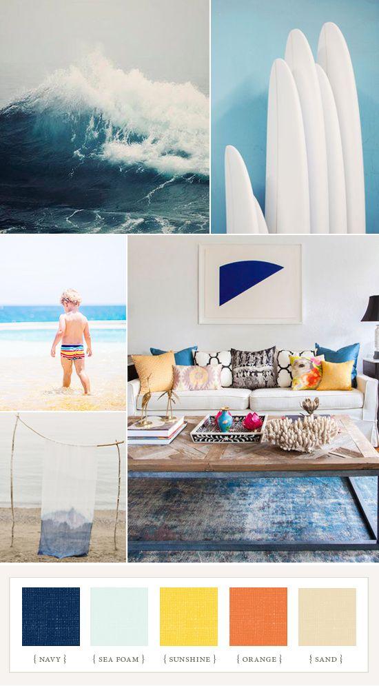Sophisticated Modern Nautical Nursery: Nautical Surf Color Inspiration
