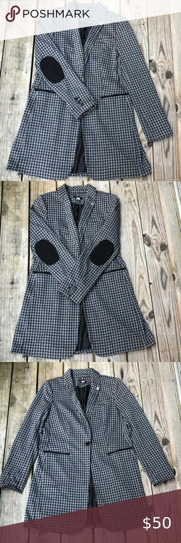 Tommy Hilfiger single button long blazer/ jacket T