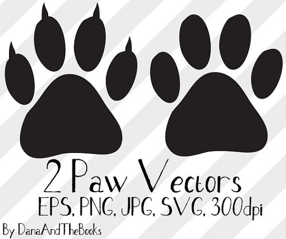 Dog Or Cat Paw Print Png Jpg Eps Svg Clip Art Vector Etsy Cat Paw Print Paw Print Image Cat Paws
