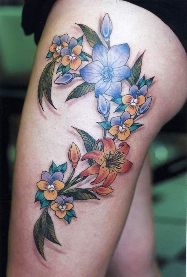 Leg Tattoos For Girls Girl Leg Tattoos Flower Thigh Tattoos Leg Tattoos Women Thigh Tattoo Designs