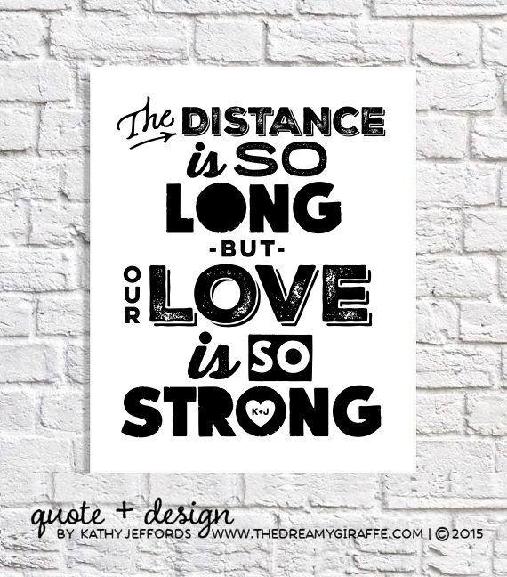 Long Distance Quote Art Navy Girlfriend Gift For Marine Girlfriend Army Girlfriend Air Force Girlfri
