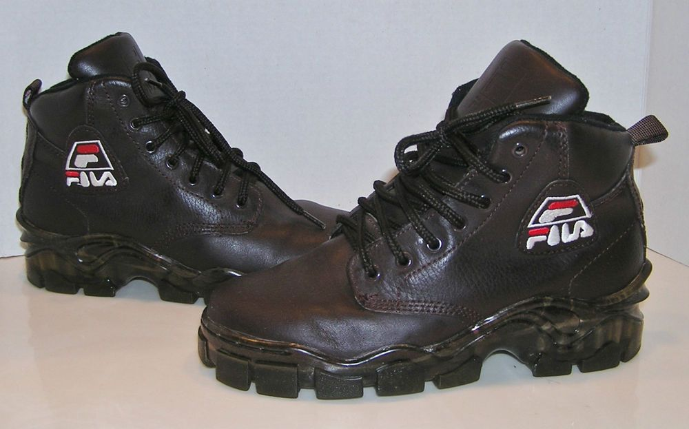 FILA Vintage 90's Men's Brown Leather Hiking Ankle Boots