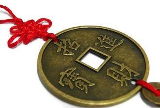 Feng Shui Coin For Good Luck Feng Shui Blue Beads Coins