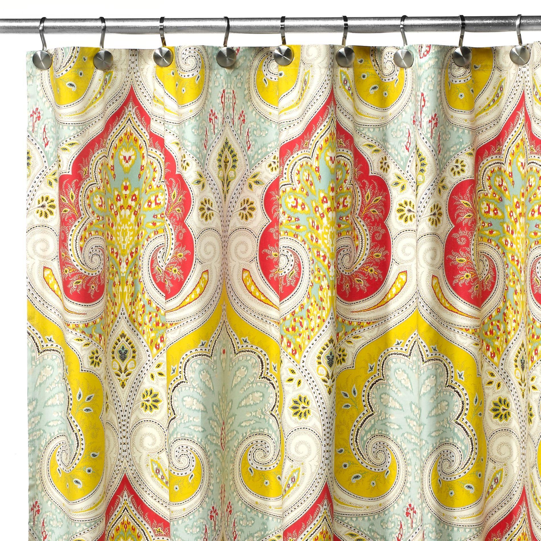 Echo Design Jaipur Fabric Shower Curtain Bedbathandbeyond Com