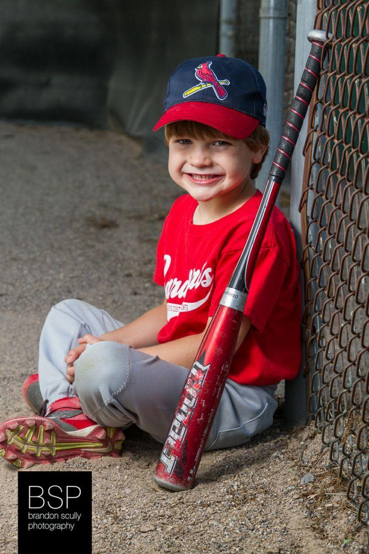 Little League Baseball youth sports portrait, strobist