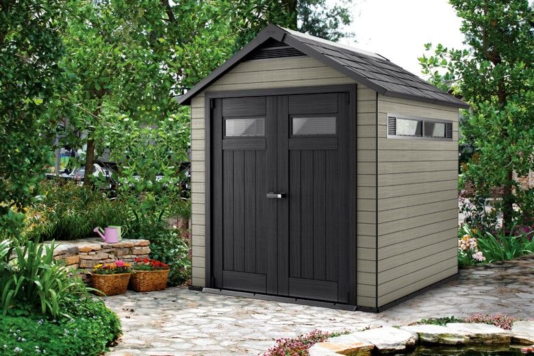 keter fusion in gray? Outdoor structures, Garden design