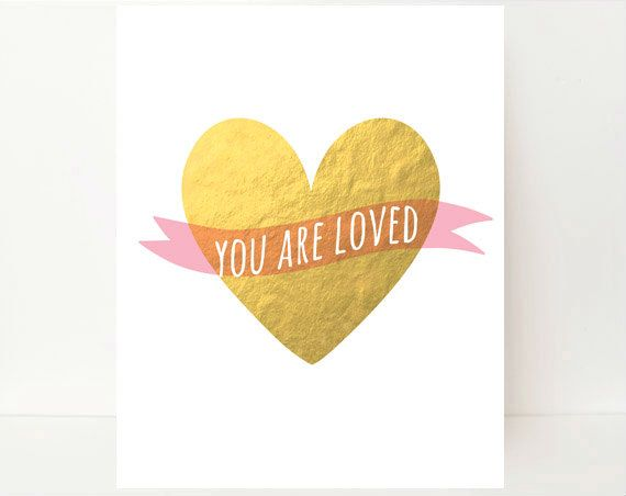 You Are Loved Wall Art Kids Nursery Art Baby Girl by BlessedType ...