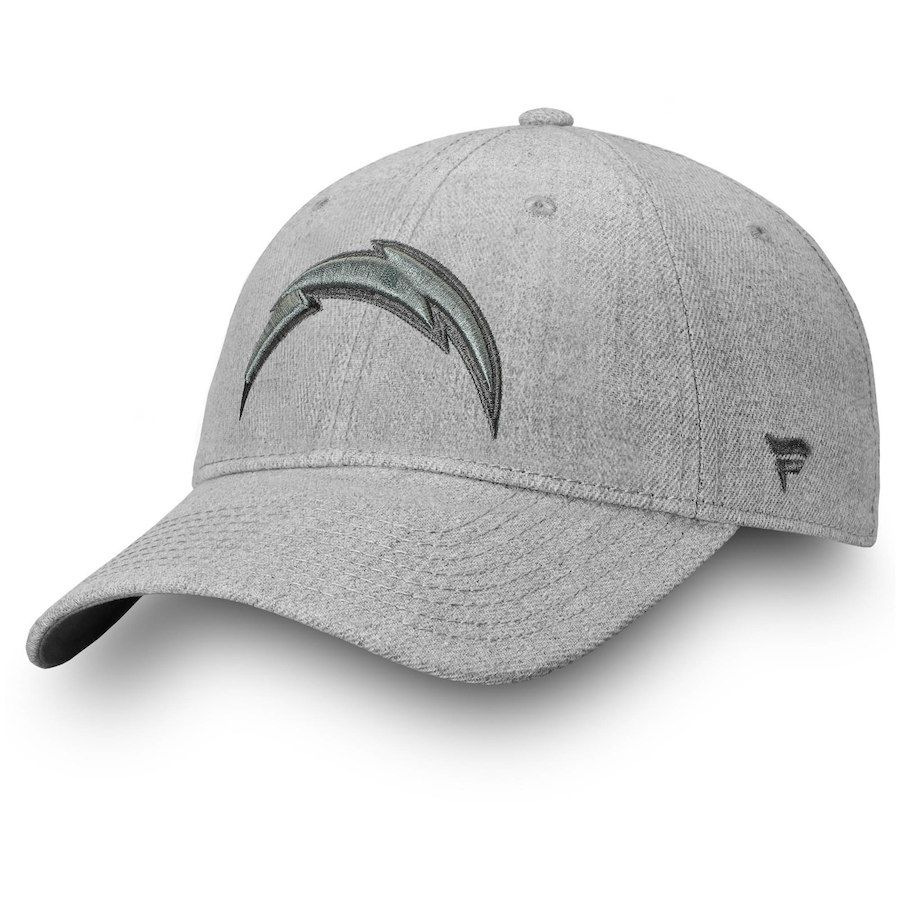 finest selection 7c4f5 59622 Men s Los Angeles Chargers NFL Pro Line by Fanatics Branded Heathered Gray  Logo Team Haze Adjustable