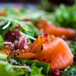 #300222 - Smoked Salmon Pomegranate Quinoa Salad Recipe