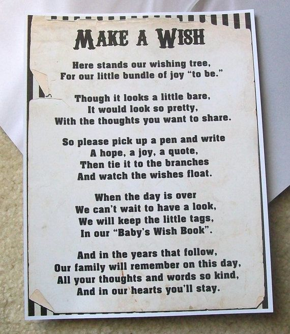 Wishing Tree Tags Instructions Sign Baby Shower Wording I Think My Mom Has A For This