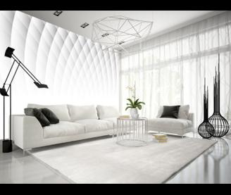 Papier peint White Illusion | 3D | Pinterest | Living room trends ...
