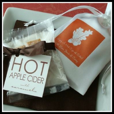 Fall Wedding Favors | Pinterest | Hot apple cider, Apple cider and ...