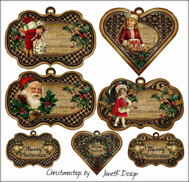Etiquetas De Navidad Retro Para Imprimir Gratis Etiquetas