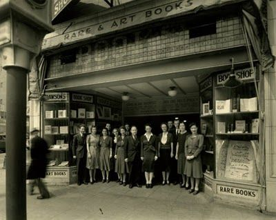 Historic photo of one of the various Dawson's Bookshops in L.A.