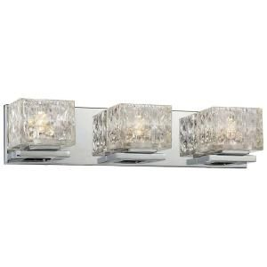 Merveilleux Good Lumens By Madison Avenue 3 Light Chrome LED Bath Vanity Light