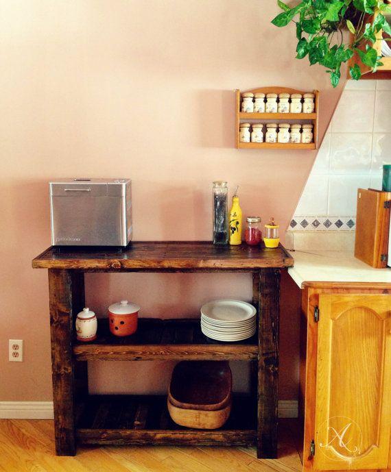 ilot de cuisine en bois de palette desserte par. Black Bedroom Furniture Sets. Home Design Ideas