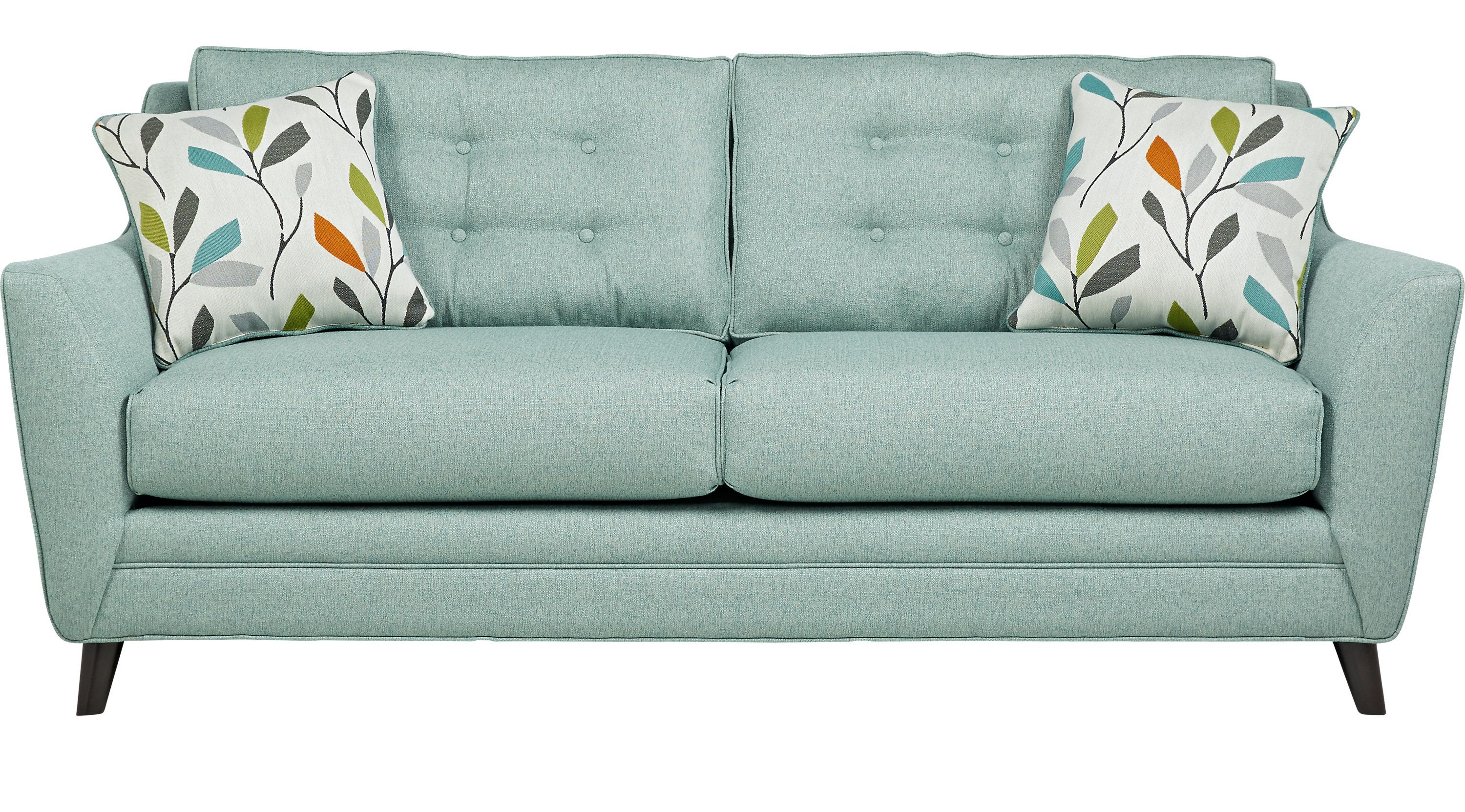 Sofas Rooms To Go Cobble Heights Teal Sofa 10113520 Teal