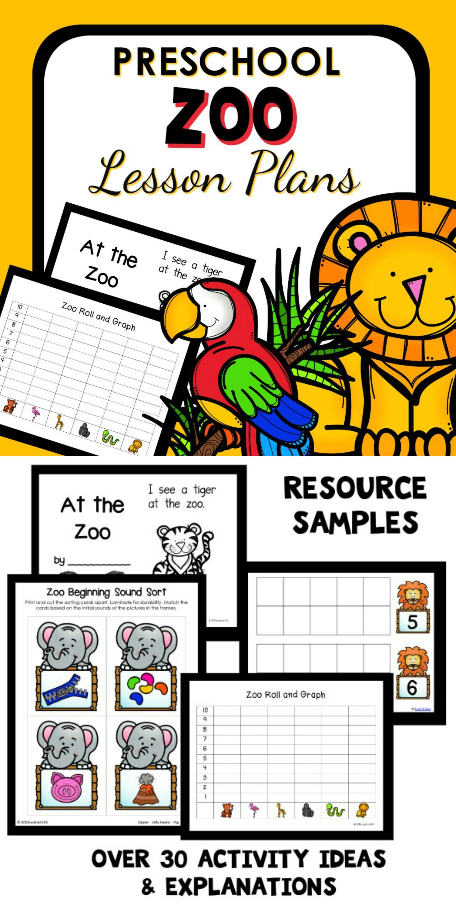 Zoo Theme Preschool Classroom Lesson Plans With Images