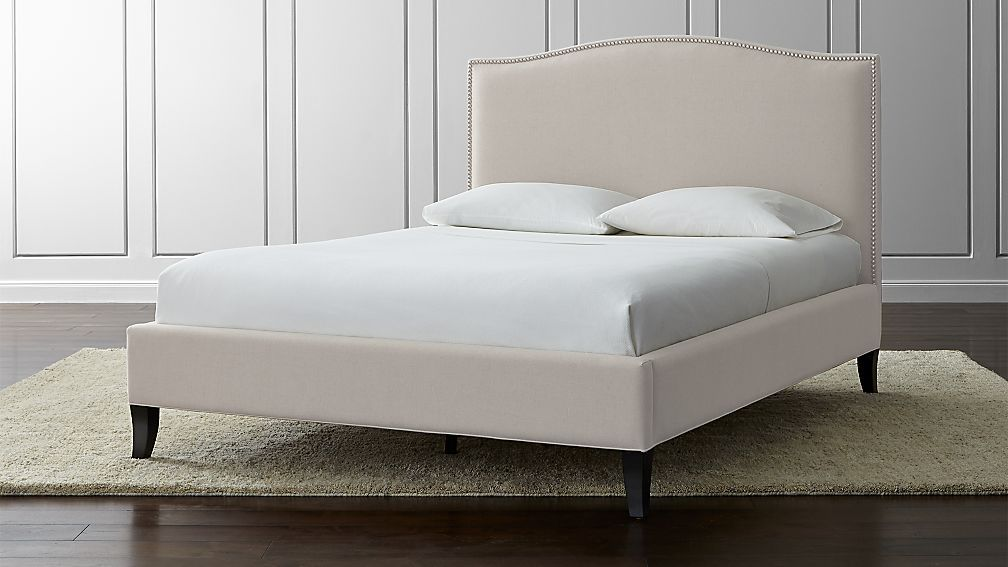 Colette Upholstered Bed | Crate and Barrel. 8 fabric options. $1799 ...