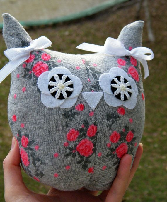 Owl Sock Stuffed Toy Baby Home Decor Soft Doll New by RageRabbit