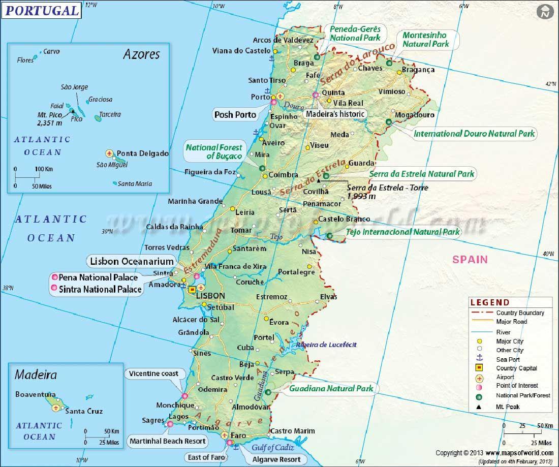 Portogallo Fisica Cartina.Pin Su Fari Altro