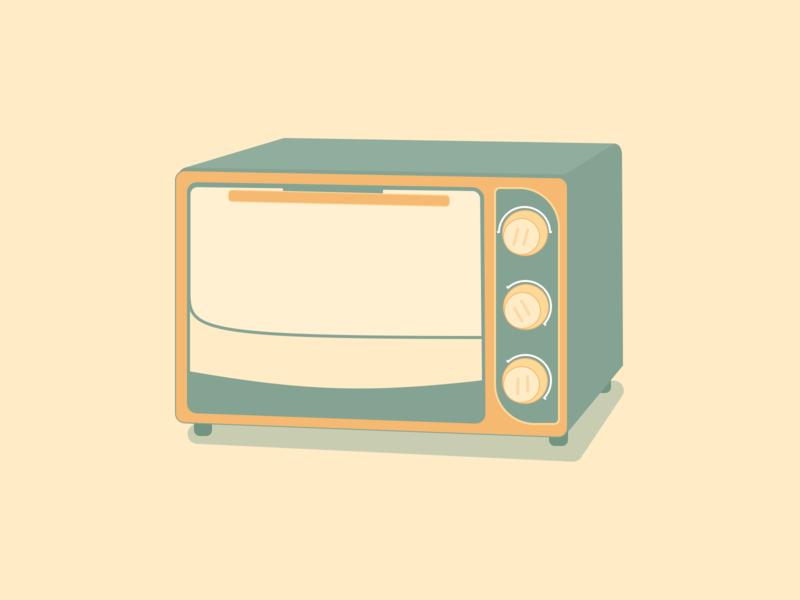 Microwave Flat Illustration Design Flat Illustration Illustration Design Design