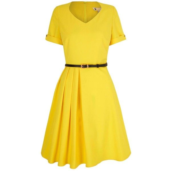 Dress for Women, Evening Cocktail Party On Sale, Yellow, Cotton, 2017, 6 P.A.R.O.S.H.