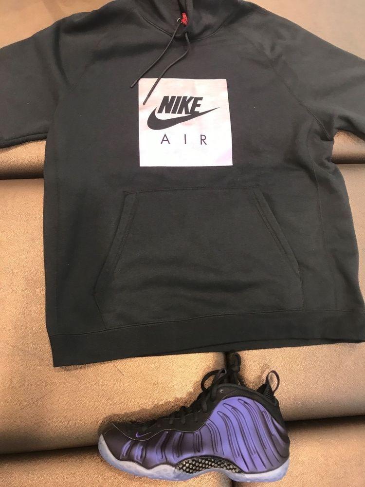 03ceab22a10 NIKE GRAPHIC SWEATSHIRT FOAMPOSITE ONE MATCHING EGGPLANT PURPLE  MEN  M-2XL   Nike  BasicTee