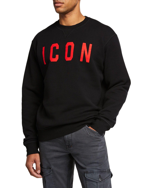 Dsquared2 Men S E Icon Logo Sweatshirt In Multi Modesens Sweatshirts Oversized Hoodie Sweatshirts Sweatshirt Jacket [ 1500 x 1200 Pixel ]