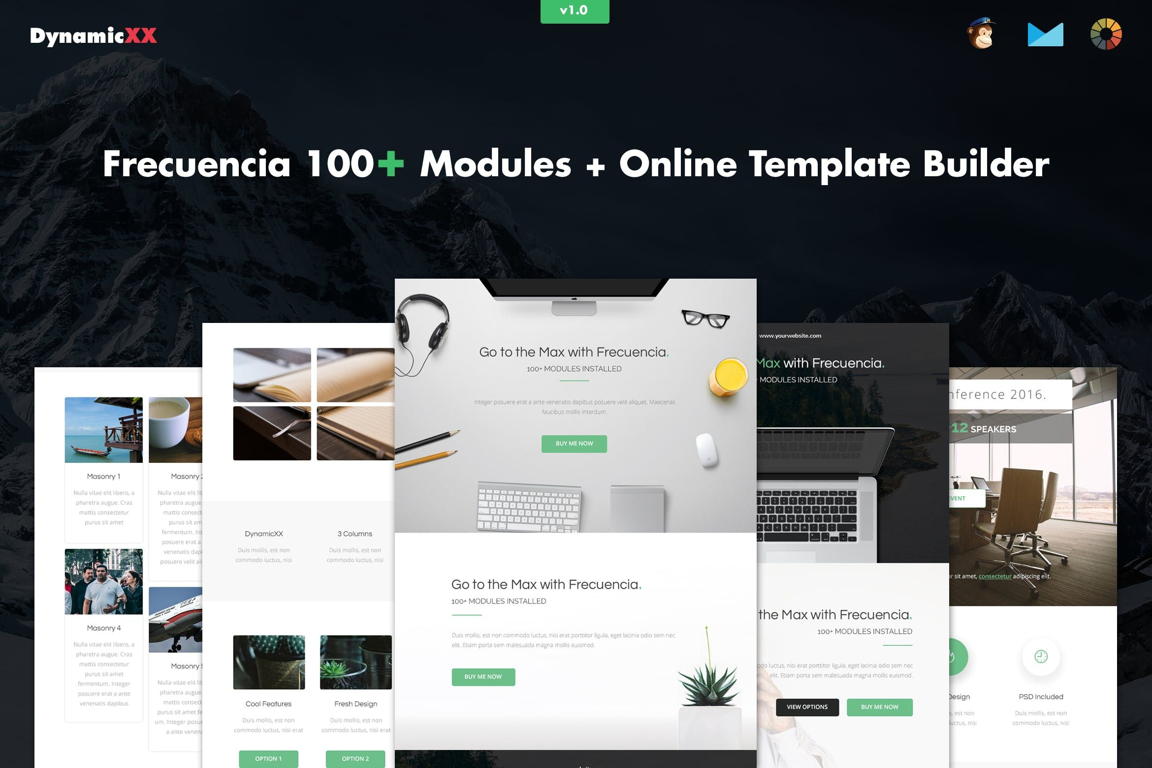 Frecuencia - 100+ Modules - Email + Builder #email