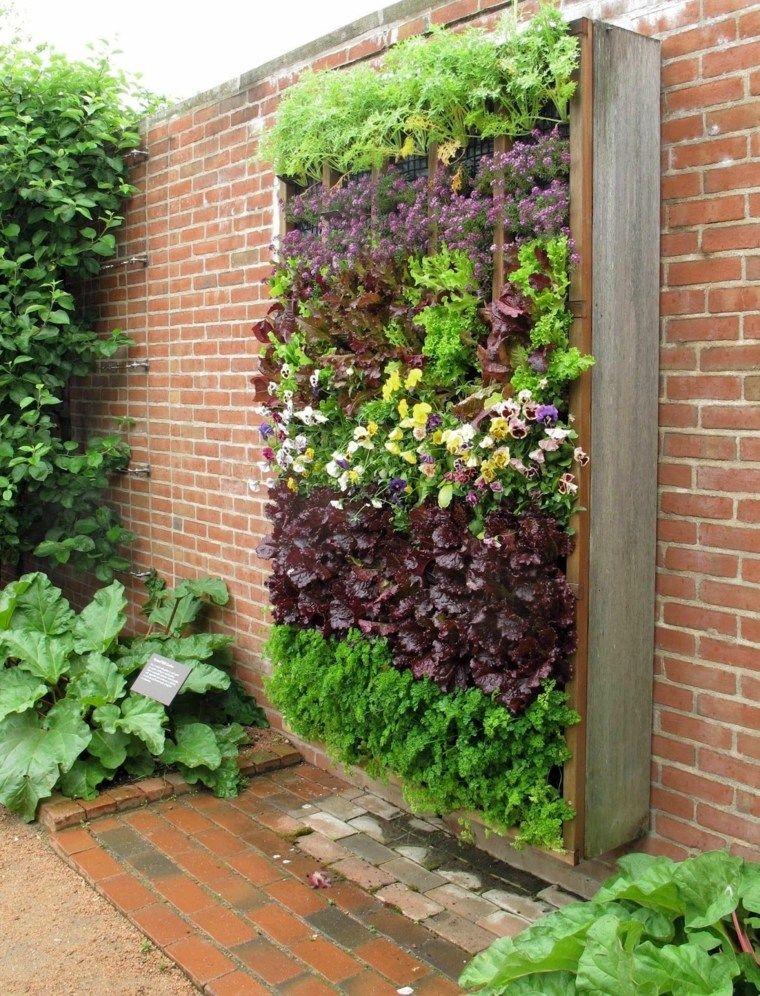 Como Hacer Un Jardin Vertical Y Su Diseno En Los Interiores Y Exteriores Jardines Verticales Huertos Verticales Jardines