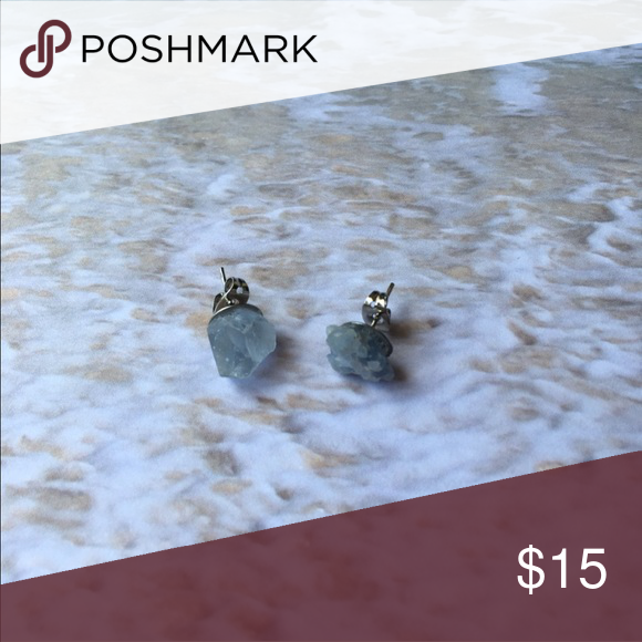 Blue Calcite Stud Earrings These are simple, small, blue calcite earrings Jewelry Earrings