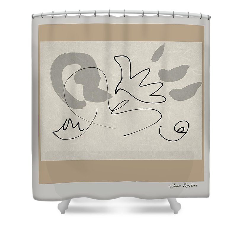 Love Shower Curtain featuring the digital art Love, Light And Peace by Janis Kirstein