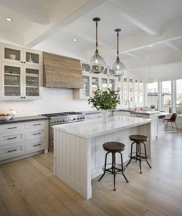 White Kitchen Exhaust Hoods salvaged wood kitchen hood, transitional, kitchen, sutro