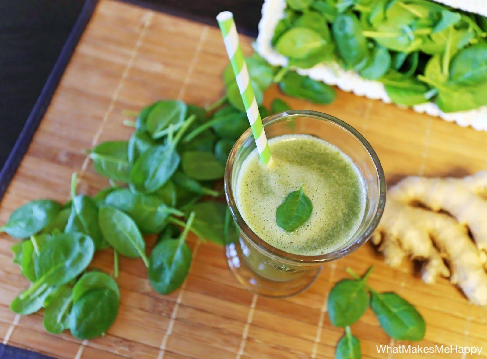 Grüner Smoothie mit Ingwer