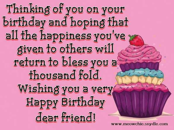 happy birthday messages for a friend Happy Birthday Wishes, Quotes, Sayings and Messages for a Friend  happy birthday messages for a friend