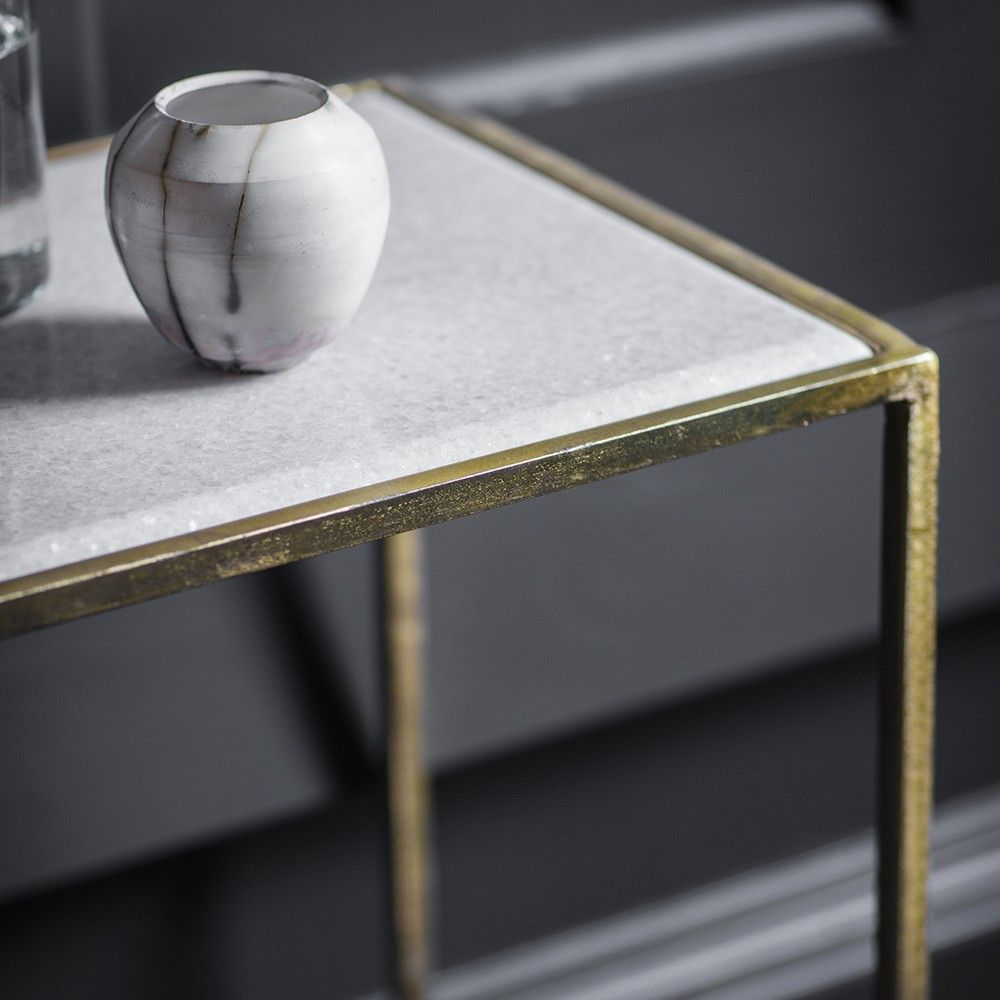 Gatsby marble top console table konsole pinterest marble top gatsby marble top console table geotapseo Choice Image