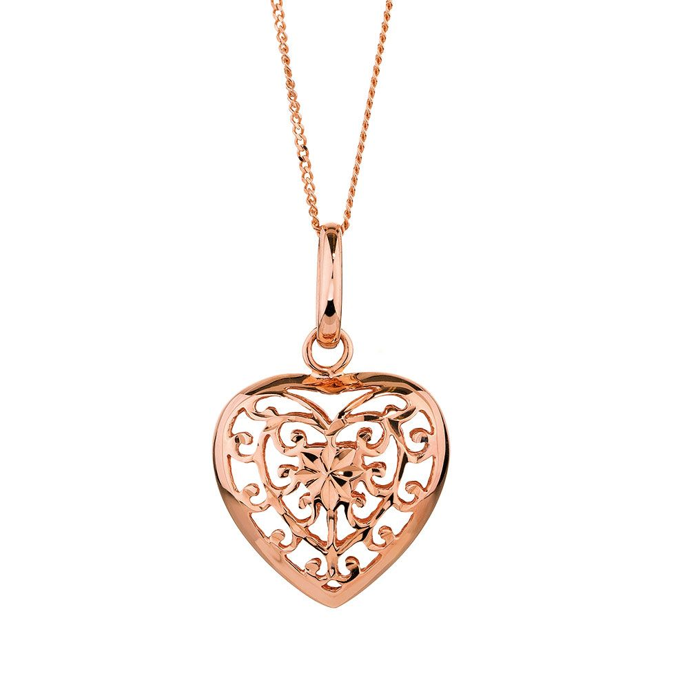 Heart pendant in 10ct rose gold jewels watches pinterest heart pendant in 10ct rose gold aloadofball Gallery