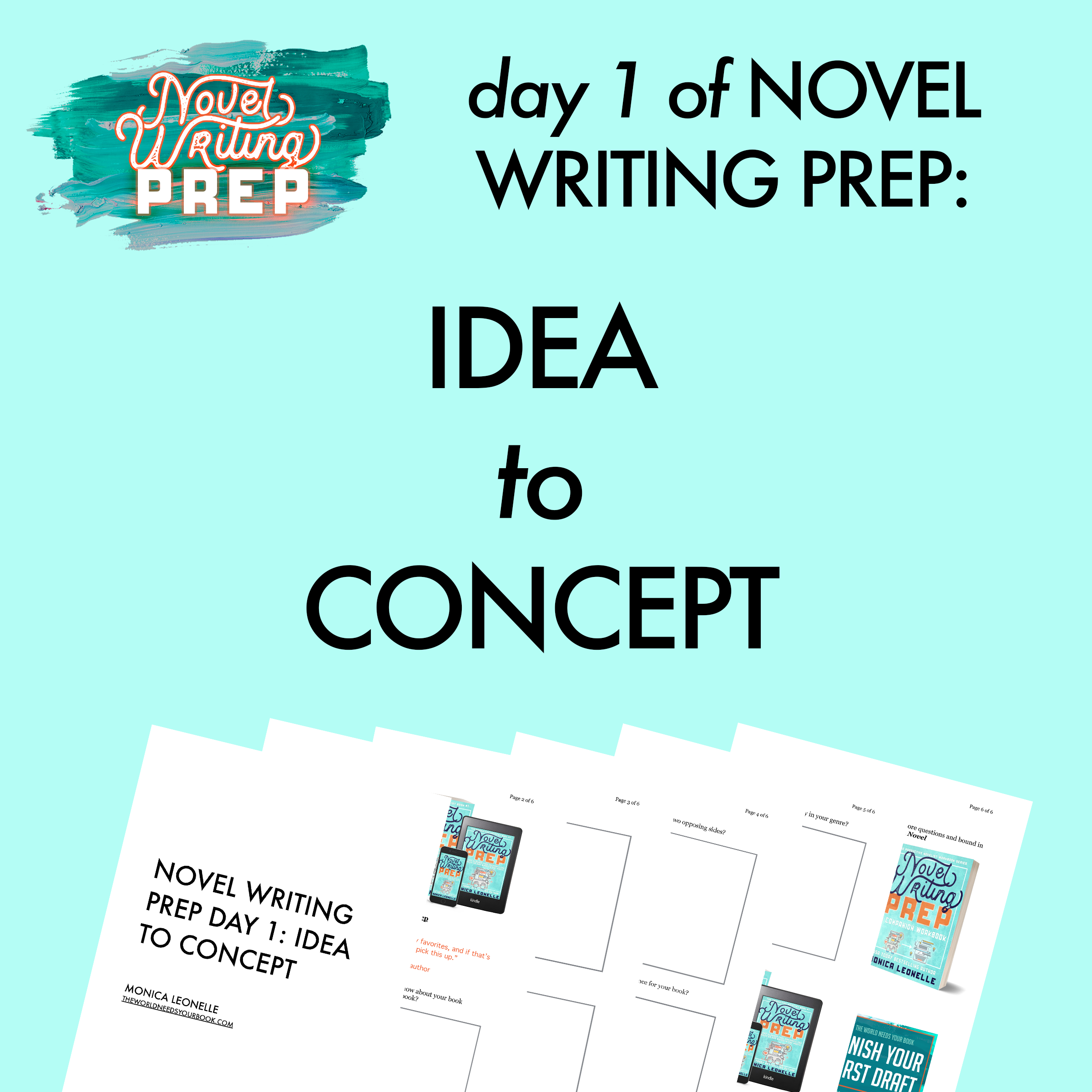 Grab The Free Worksheets For Day 1 Of Novel Writing Prep