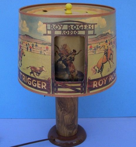 Vintage Roy Rogers Rotating Rodeo Lamp Great to Display ...