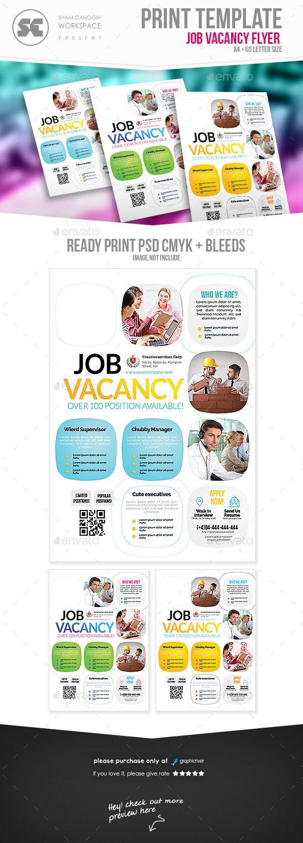 Job Vacancy Flyer Pinterest Flyer Template Template And Logos