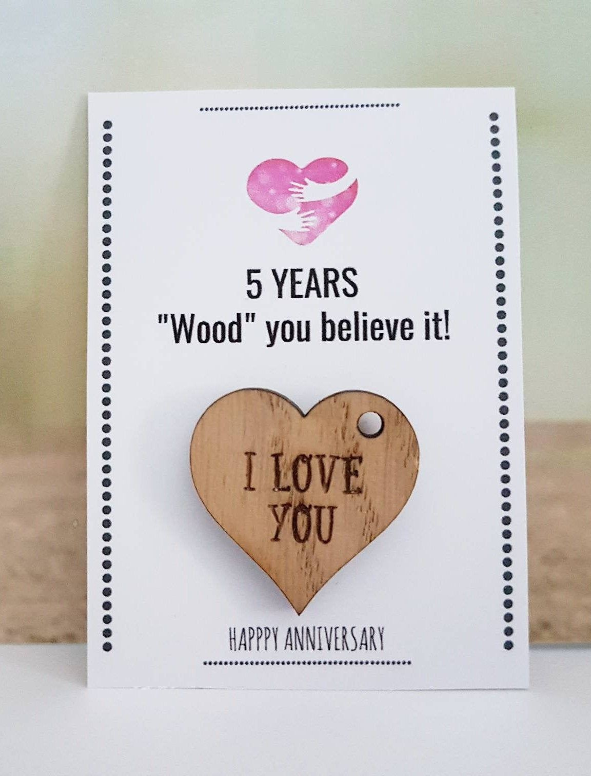 5th Anniversary Gift Husband Wife Wood Wooden Gift 5th Etsy Diy Anniversary Gifts For Him Anniversary Gifts For Husband Homemade Anniversary Gifts