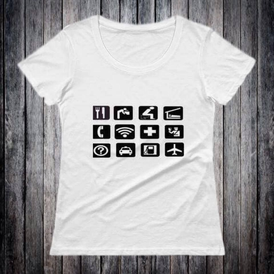Foodbanksie clothing apparel created a must have travel tool the t shirts are for those travelling to a foreign destination with a foreign language using universal symbols and graphics biocorpaavc Images