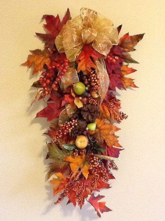 Colorful Fall / Autumn verticle door swag by StevieAndSonya, $34.00