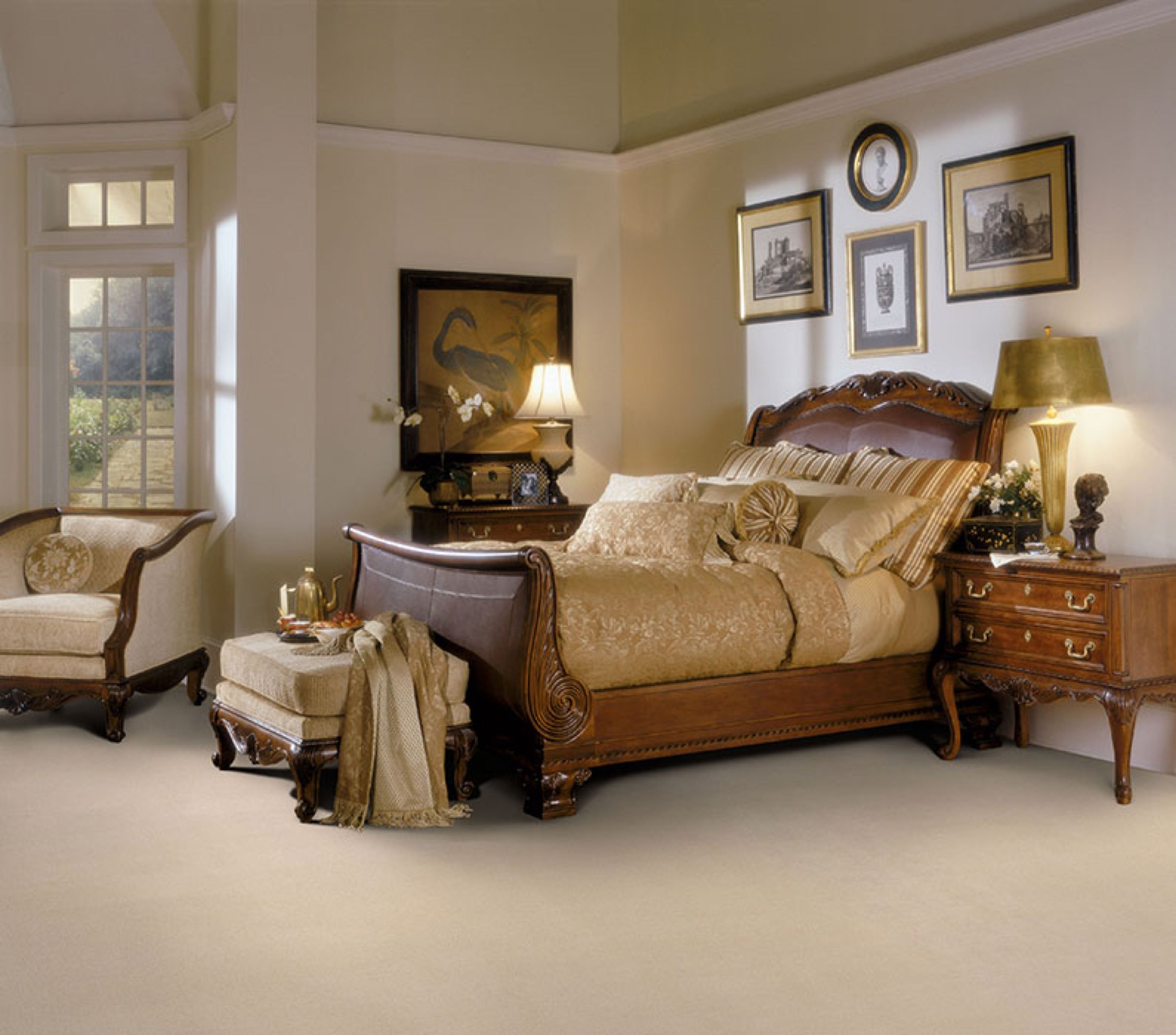 Luxury Bedroom Design With Carpets From Masland Oak Bedroom King Bedroom Sets Luxurious Bedrooms