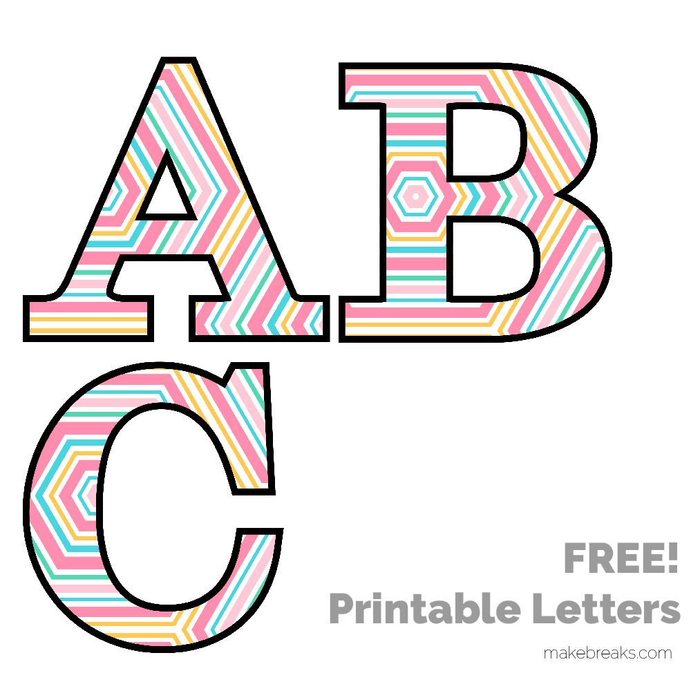 Spring Easter Pattern Free Printable Letters Printable