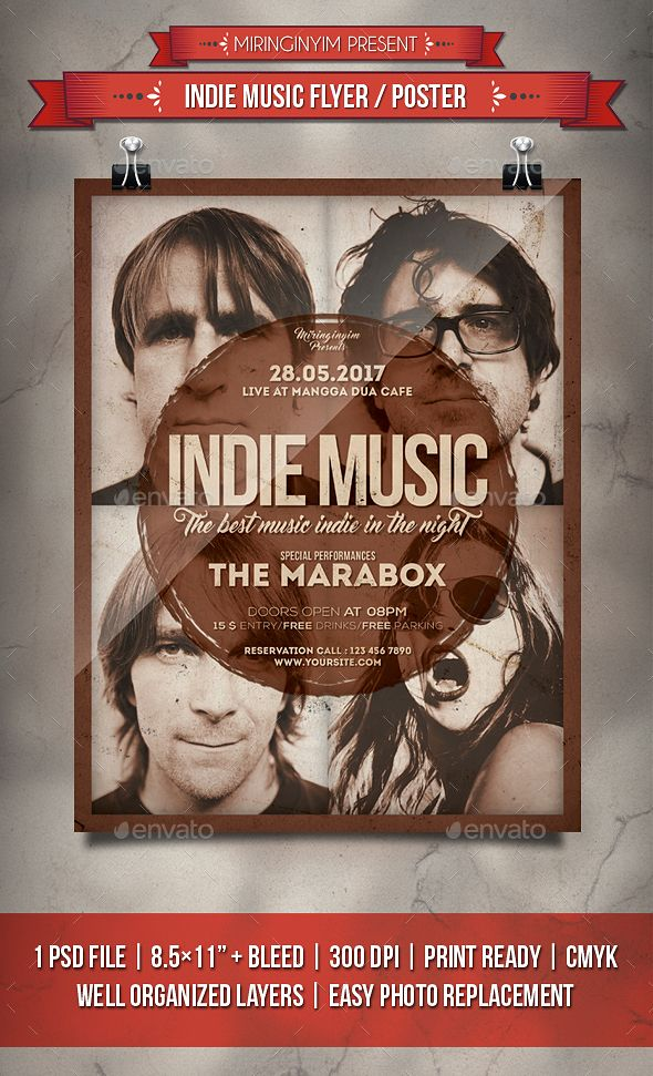 Pin by best Graphic Design on Flyer Templates | Music flyer, Indie