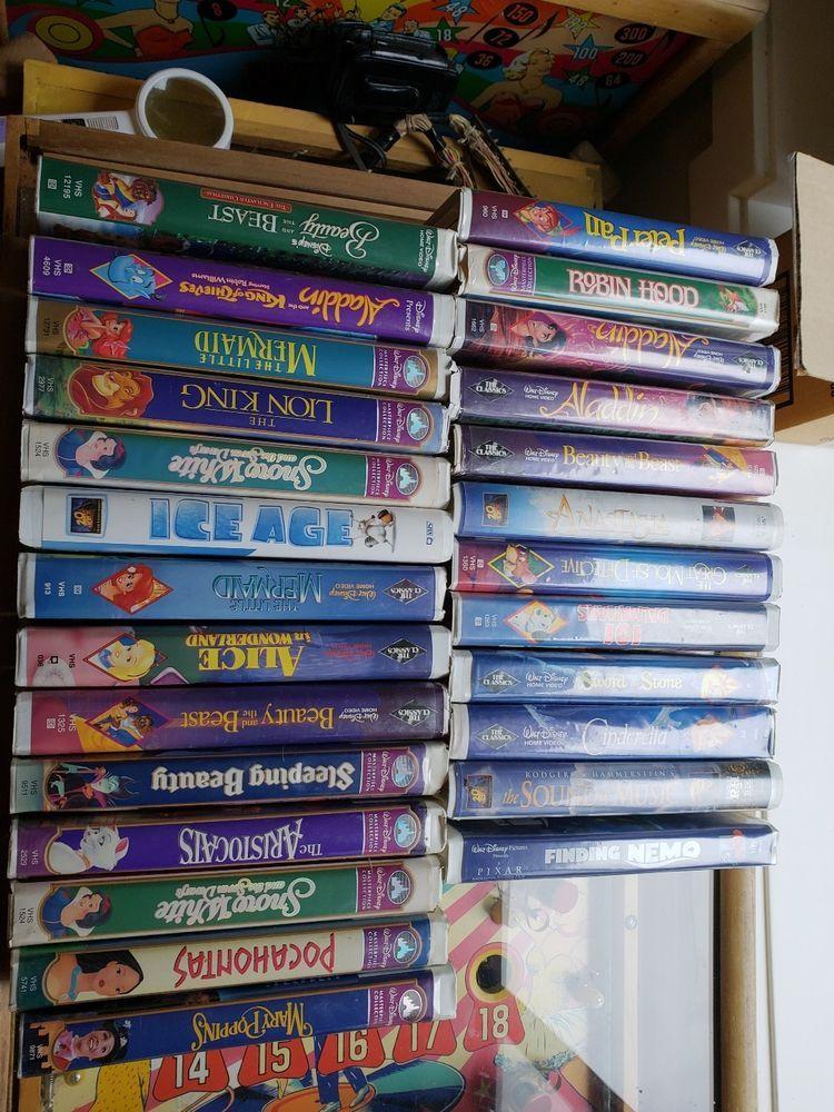 Huge Lot Of 30 Disney Movie Vhs Collection Regular Masterpiece Black Diamond Disney Movies Masterpiece Movies