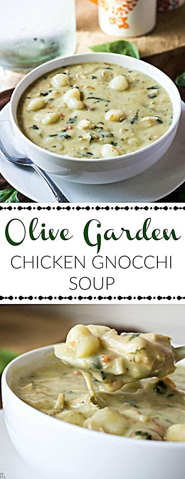 Olive Garden Chicken Gnocchi Soup Recipe Easy soup