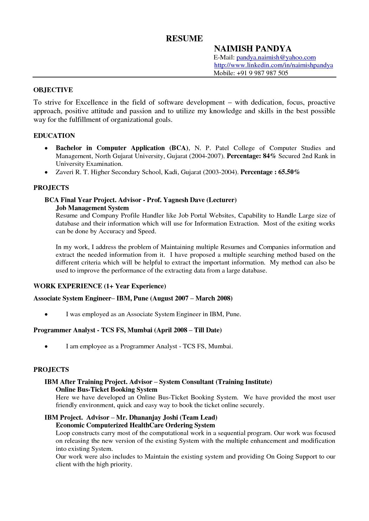 Example Resume Templates Format Download Pdf Template Examples For